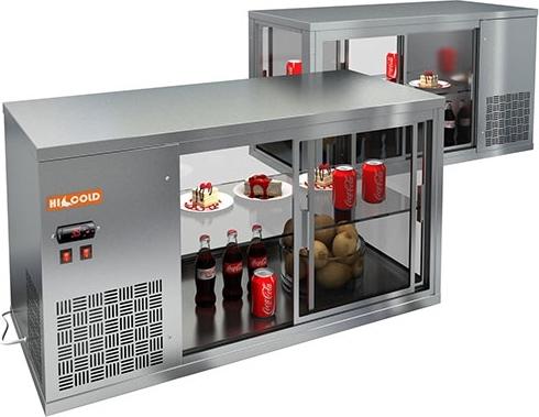 Настольная холодильная витринаHICOLD VRL1100 L - 1